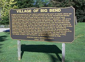 village of big bend sign