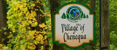 Village of Chenequa sign