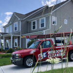 E-Z Window Truck Parked Outside of a Residence - Schedule Your Window Cleaning Today!