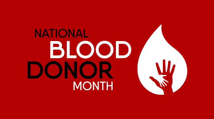 January is National Blood Donor Month
