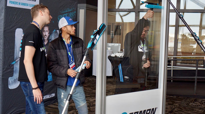 E-Z Window Cleaning employees at IWCA 2020