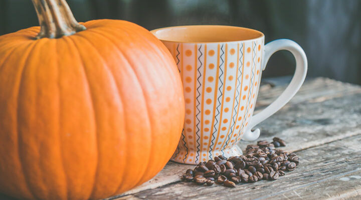 Pumpking and coffee